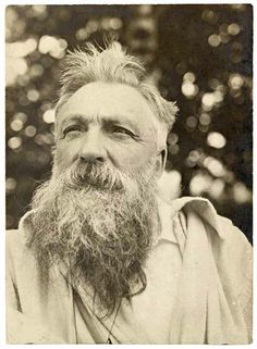 Anonymous, Portrait of Rodin, disheveled hair, 1907, gelatin-silver print, Rodin museum collection