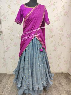 Hurray...! Great color combination makes you prettier. Pink Petals, Color Combinations, Sari, House Design, Pretty, How To Make, Fashion, Color Combos, Saree