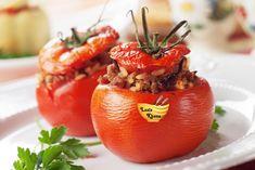 भरवां टमाटर बनाने की विधि – Stuffed Tomato Recipe in Hindi Puerto Rico, Sauce Tomate, Veg Recipes, 20 Min, Food To Make, Side Dishes, Yummy Food, Traditional, Fruit