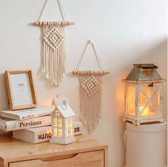 Mini Macrame Wall Hanging: Diamond Design Boho Decor for Room Decoration, housewarming, new home gift, bedroom & baby room nursery