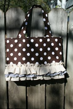 Large polka dot ruffle Bag