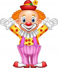 Illustration about Illustration of Cartoon funny clown. Illustration of clown, jacket, gesturing - 89034181
