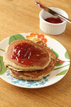 Gluten free egg free whole grain pancakes