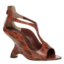 AVOW – GENUINE SNAKESKIN T-STRAP WEDGES