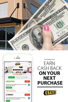 Download the free Ebates app and earn cash back on your next purchase. Shop and save online with coupons and promo codes at over 2,000 stores - all while earning Cash Back rewards!
