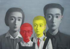 Zhang Xiaogang, FamNo. 2, 2005, 400 x 280cm, © Zhang Xiaogang.
