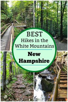 Heading to the White Mountains in New Hampshire? You'll definitely want to check out this guide to the best (easy) hikes in and around Lincoln NH. Great hikes with great views. Great for the whole family! New England States, New England Travel, Thru Hiking, Hiking Trails, Portsmouth, White Mountain National Forest, Lost River, River Trail, White Mountains