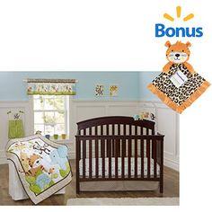 Garanimals Tribal Tales 3-Piece Crib Bedding Set w/Bonus Blanket