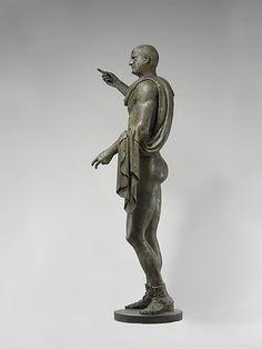 Bronze statue of the emperor Trebonianus Gallus.  Period:     Imperial Date:     A.D. 251–253 Culture:     Roman Medium:     Bronze Dimensions:     H. 95 in. (241.3 cm).