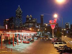 """Atlanta, Georgia - The iconic fast food restaurant """"The Varsity"""" has been operating in downtown Atlanta since 1928."""