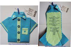chemise en pliage papier pour la fête des pères