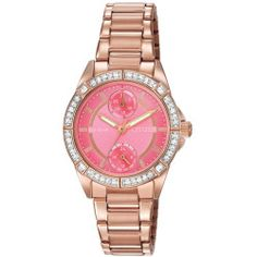 d7b7f4cbfcc Ladies  Drive from Citizen Eco-Drive POV Crystal Pink Dial Watch