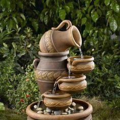 A Solar Fountain Can Transform Your Garden – Gardening Decor Yard Water Fountains, Garden Fountains, Outdoor Fountains, Garden Waterfall, Cool Art Projects, Water Features In The Garden, Water Garden, Garden Art, Beautiful Gardens