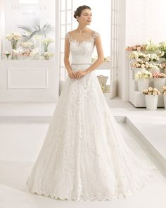 f31a38116 Sophia Tolli sleeveless misty tulle and sequin full A-line wedding gown in  2019 | Wedding | Wedding dresses, Wedding gowns, Bridal dresses