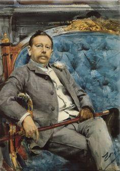 Anders Leonard Zorn (1860 — 1920, Sweden) Jean Burney. watercolor.