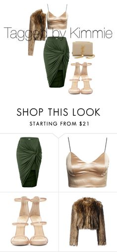"""""""I  love fur!!!!"""" by taggedbykimmie15 on Polyvore featuring LE3NO, Giuseppe Zanotti, RED Valentino and Yves Saint Laurent"""