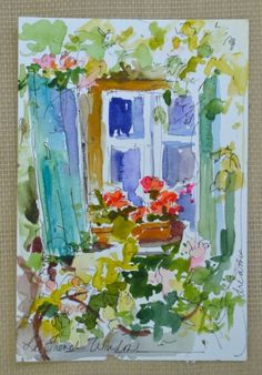 Postcards from France No. 4 and No.5, painting by artist Dreama Tolle Perry