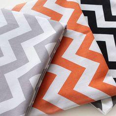 3 Colour Scandinavian Retro Europen Zigzag Patch Style Cotton 100% Fabric