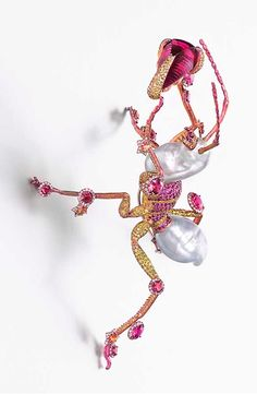 Wallace Chan The Mighty brooch featuring a total of 75.94ct pearls, 21.41ct rubellites, yellow sapphires, diamonds, pink sapphires and yellow diamonds.