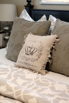 Crown Paris Print Pillows Via Tai Pan Trading