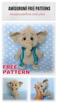 In this article I will share with you amigurumi little cute elephant free crochet pattern. We always keep you up-to-date with Amigurumi. Crochet Amigurumi Free Patterns, Crochet Animal Patterns, Stuffed Animal Patterns, Crochet Animals, Crochet Dolls, Free Crochet, Crochet Elephant Pattern Free, Stuffed Animals, Cute Elephant