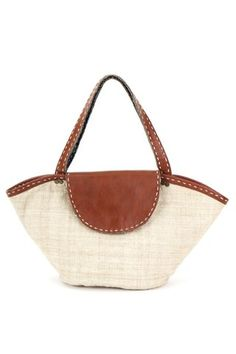 eco hemp and leather batik carry all ~ chestnut colour (featured)  by Nika & Mink  $59.00