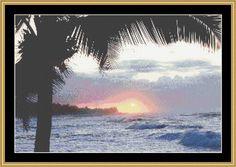 Hawaii Sunset [MART-20] - $16.00 : Mystic Stitch Inc, The fine art of counted cross stitch patterns