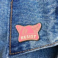10% of all sales will be donated to the Planned Parenthood.  ❤ High Quality ❤ Enamel pins are fun, quirky & retro ❤ Copper metal with enamel paint ❤ Great for hats, bags and jackets  The pins are attached to a backing piece and sleeved in a plastic bag for safe shipping. Comes with a black rubber clutch.  Great packaging to give as a gift.  Pin is approximately 1 wide x 3/4 high