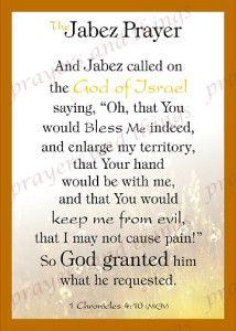 The Jabez Prayer | Prayers and Things