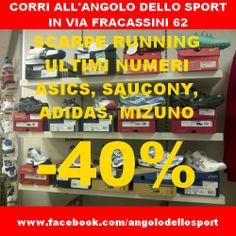 Corri a Via Fracassini 62 (Roma), scarpe da #running ultimi numeri scontate del 40%!  www.facebook.com/angolodellosport  #mizuno #asics #saucony #adidas