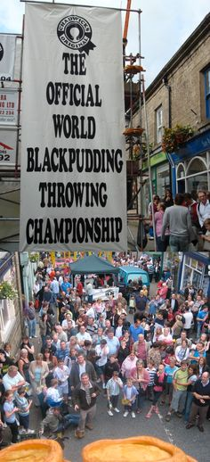 Take a trip to Ramsbottom for one of the most unique event of the summer - The World Black Pudding Throwing Championships, only in England!