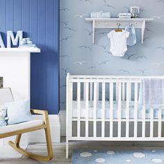 Adesivo de pássaros para quarto de bebê de menino
