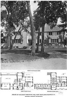 The Malcolm McBurney estate designed by Delano & Aldrich c. 1915.