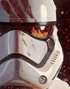 Star Wars The Force Awakens FN-2187 Canvas Giclee Art Print