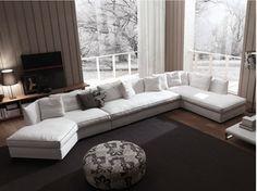 Sectional fabric sofa DUNCAN | Sectional sofa - FRIGERIO POLTRONE E DIVANI
