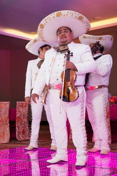 Mariachis at the Reception | Mexican Indian Fusion Wedding | Adrienne Fletcher Photography @adrinfletcher | Venue: Moon Palace Golf & Spa Resort in Cancun, Mexico @prweddings