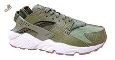 Nike WMNS Air Huarache Run Premium Women Lifestyle Casual Sneakers new Palm Green - 8.5 - Nike sneakers for women (*Amazon Partner-Link)