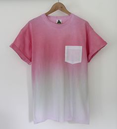 AndClothing Strawberry Fade Dip Dye Tee #dipdye
