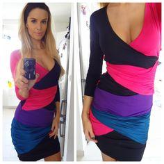 Sugarbird colour block dress