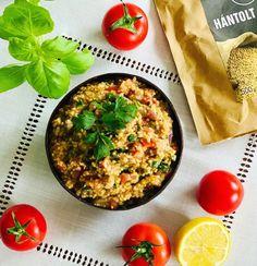 Köles saláta Risotto, Vegan, Ethnic Recipes, Food, Red Peppers, Essen, Meals, Vegans, Yemek