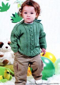RU - All about knitting Baby Boy Knitting Patterns, Baby Sweater Knitting Pattern, Baby Sweater Patterns, Knitting For Kids, Crochet For Kids, Baby Patterns, Knit Patterns, Crochet Baby, Baby Coat