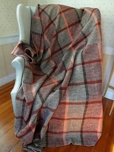 Vintage Home Spun Hand Woven Coverlet or Table Cover