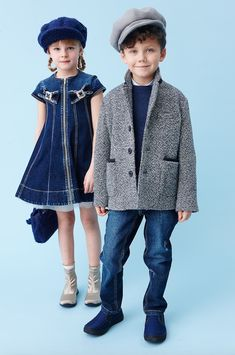 Boyswear is fairly classic and tailored at MiMiSol for winter 2016 kidswear