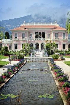 France Travel Inspiration - Ephrussi de Rothschild in St Jean Cap Ferrat. Should consider painting the house a different colour.