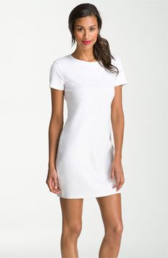 Now I'm ready for the white party!  MICHAEL Michael Kors Short Sleeve Sequin Dress | Nordstrom