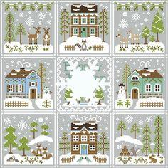 Ya disponible en www.lacasinaroja.com Snowy forest, octavo modelo de la serie Frosty Forest de Country Cottage Needleworks.