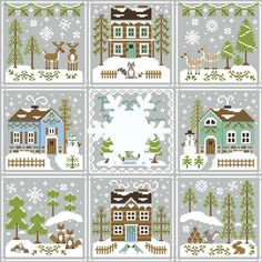 Frosty Forest Country Cottage Needleworks.