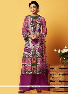 Groovy Digital Print Work Designer Palazzo Salwar Suit Model: YOS8832