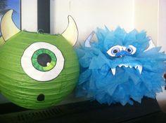 DIY monsters inc. decorations.