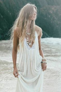 Made in Mexico, these stunning Gauze boho backless maxi dresses are truly beautiful. White Bohemian's house label 'Cabo Gypsy' offers gypsy style fashions for all.